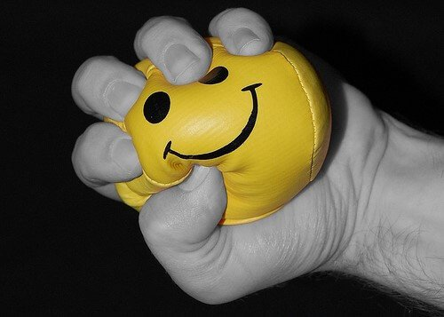 happy stress ball